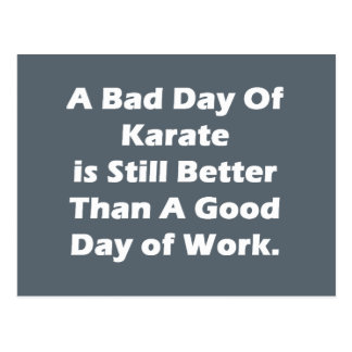 A Bad Day Of Karate Postcard