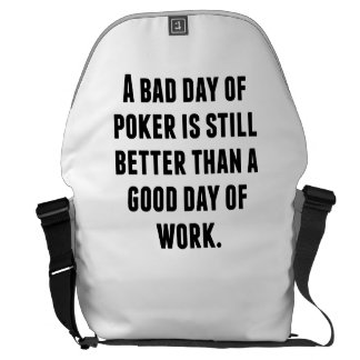 A Bad Day Of Poker Messenger Bag