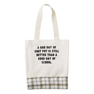 A Bad Day Of Shot Put Zazzle HEART Tote Bag