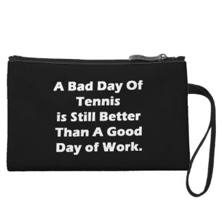 A Bad Day Of Tennis Wristlet