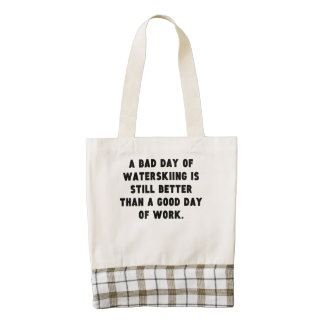 A Bad Day Of Waterskiing Zazzle HEART Tote Bag