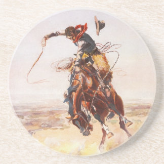 A Bad Hoss by Charles Marion Russell in 1904 Coaster