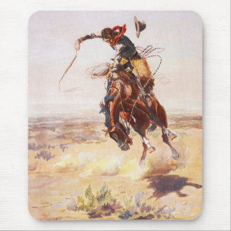 A Bad Hoss by Charles Marion Russell in 1904 Mouse Pad