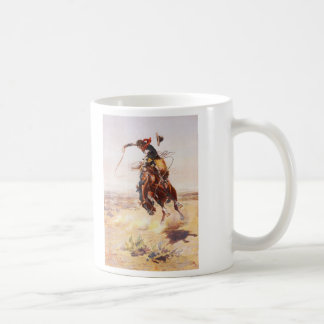A Bad Hoss by Charles Marion Russell in 1904 Classic White Coffee Mug