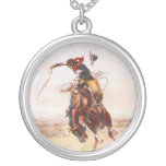 A Bad Hoss by Charles Marion Russell in 1904 Pendants