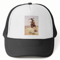 A Bad Hoss by Charles Marion Russell in 1904 Trucker Hat
