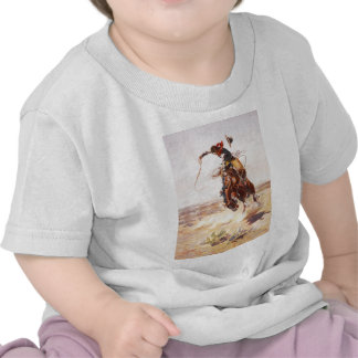 A Bad Hoss by Charles Marion Russell in 1904 T Shirt