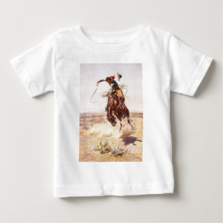 A Bad Hoss by Charles Marion Russell in 1904 Tee Shirt