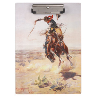 A Bad Hoss Charles Russell Fine Art Clipboards