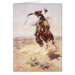 A Bad Hoss Charles Russell Fine Art Greeting Greeting Cards