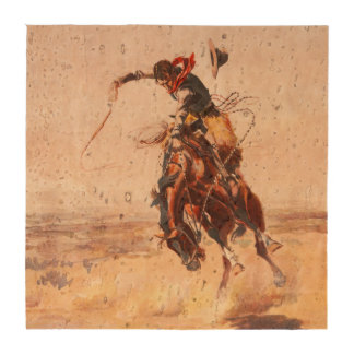 A Bad Hoss Charles Russell Fine Art Beverage Coasters