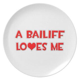 A Bailiff Loves Me Plate