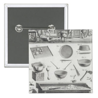 A baker's kitchen and equipment, from the 'Encyclo Button