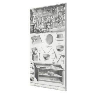 A baker's kitchen and equipment, from the 'Encyclo Canvas Print