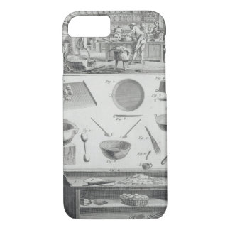 A baker's kitchen and equipment, from the 'Encyclo iPhone 7 Case