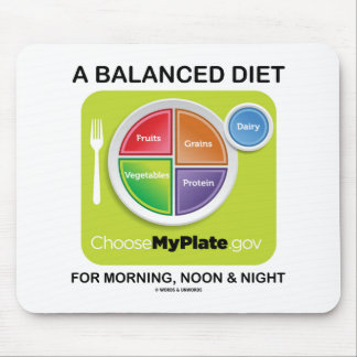 A Balanced Diet For Morning Noon And Night MyPlate Mouse Pad