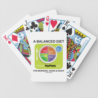 A Balanced Diet For Morning, Noon & Night MyPlate Bicycle Playing Cards