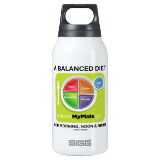A Balanced Diet For Morning, Noon & Night MyPlate Insulated Water Bottle