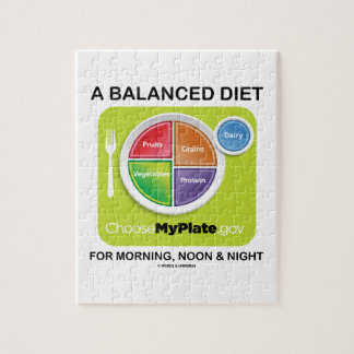 A Balanced Diet For Morning, Noon & Night MyPlate Jigsaw Puzzle