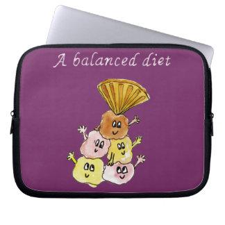 'A Balanced Diet' ice cream sundae laptop sleeve
