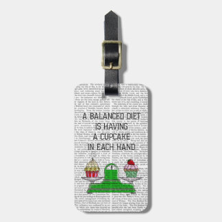 A Balanced Diet Illustration Luggage Tag