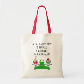 A Balanced Diet Illustration Tote Bag