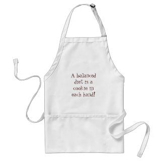 A balanced diet is a cookie in each hand! adult apron