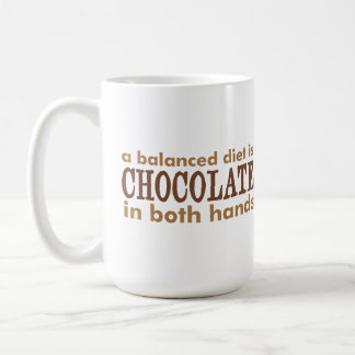 A Balanced Diet is... Classic White Coffee Mug
