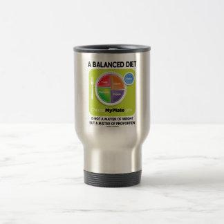 A Balanced Diet Is Not Matter Of Weight (MyPlate) Travel Mug