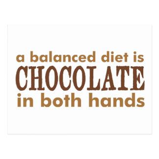 A Balanced Diet is... Postcard