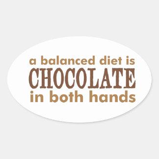 A Balanced Diet is... Oval Sticker