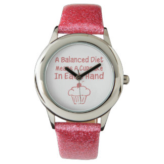 A Balanced Diet Means A Cupcake In Each Hand Wrist Watches