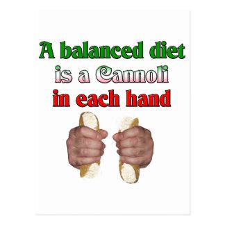 A Balanced Diet Postcard