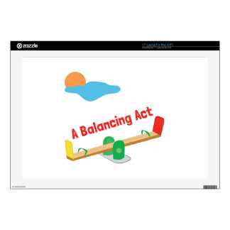 A Balancing Act Decals For Laptops
