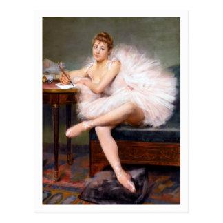 A Ballerina by Belleuse Fine Art Postcard