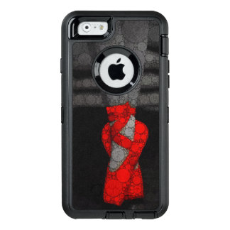 A ballerina's legs in red ballet pointe shoes OtterBox defender iPhone case