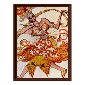 A Ballettfigurine: Firebird de Bakst Léon (el mejo Postales