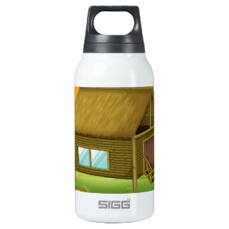 A bamboo house in the island 10 oz insulated SIGG thermos water bottle