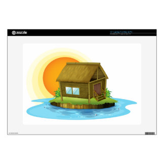 """A bamboo house in the island skin for 15"""" laptop"""