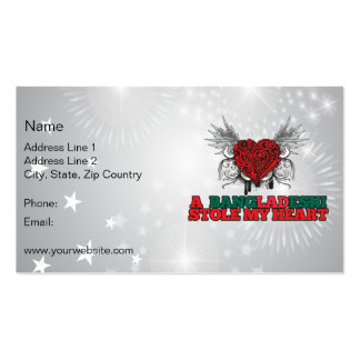 A Bangladeshi Stole my Heart Double-Sided Standard Business Cards (Pack Of 100)