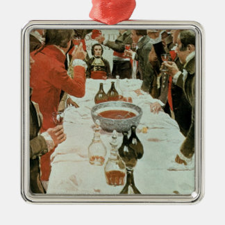 A Banquet to Genet illustration from Washington Metal Ornament