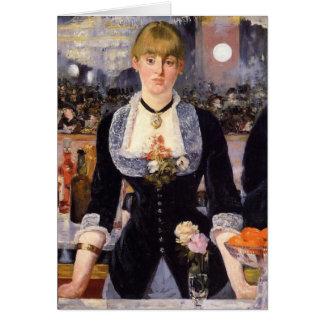 A Bar at Folies-Bergère Greeting Cards