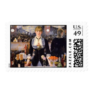 A Bar at Folies-Bergère Postage