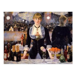 A Bar at Folies-Bergère Postcard