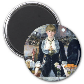 A Bar At The Folies Bergere 2 Inch Round Magnet