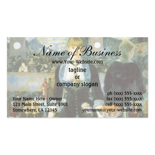 A Bar at the Folies-Bergere by Edouard Manet Business Card
