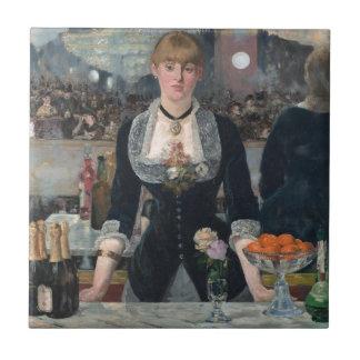 A Bar at the Folies-Bergère by Édouard Manet Ceramic Tile
