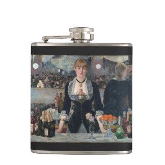 A Bar at the Folies-Bergère by Édouard Manet Hip Flask