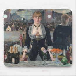 A Bar at the Folies-Bergère by Édouard Manet Mouse Pad
