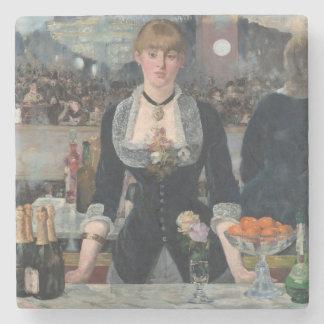 A Bar at the Folies-Bergère by Édouard Manet Stone Coaster